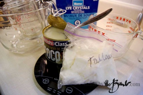 Basic Cold Process Soap - tallow coconut oil