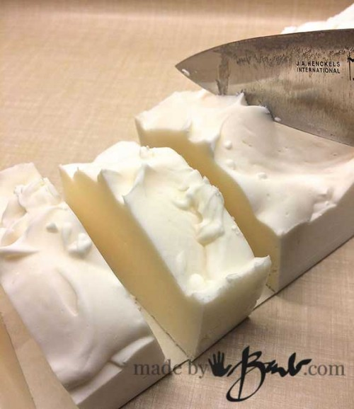 Basic Cold Process Soap - cutting and demolding