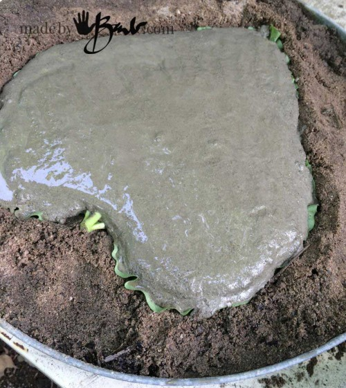 leaf concrete stepping stones - concrete applied