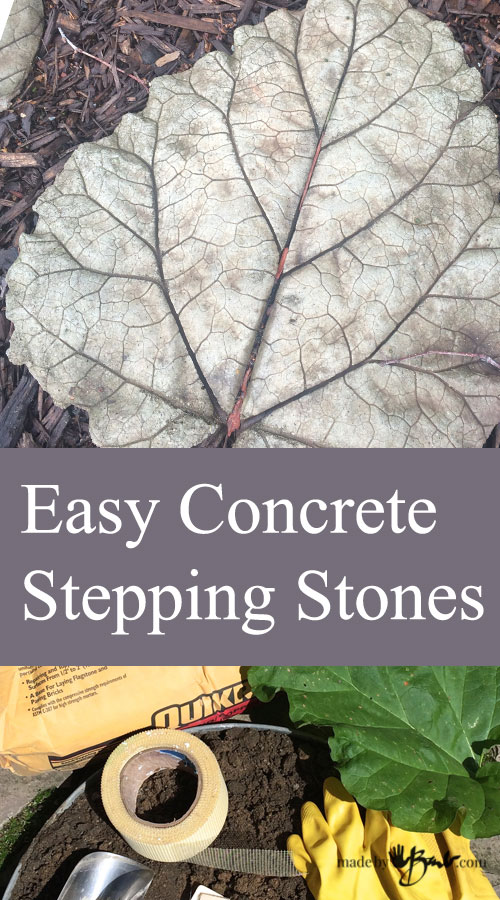 Easy Concrete Stepping Stones