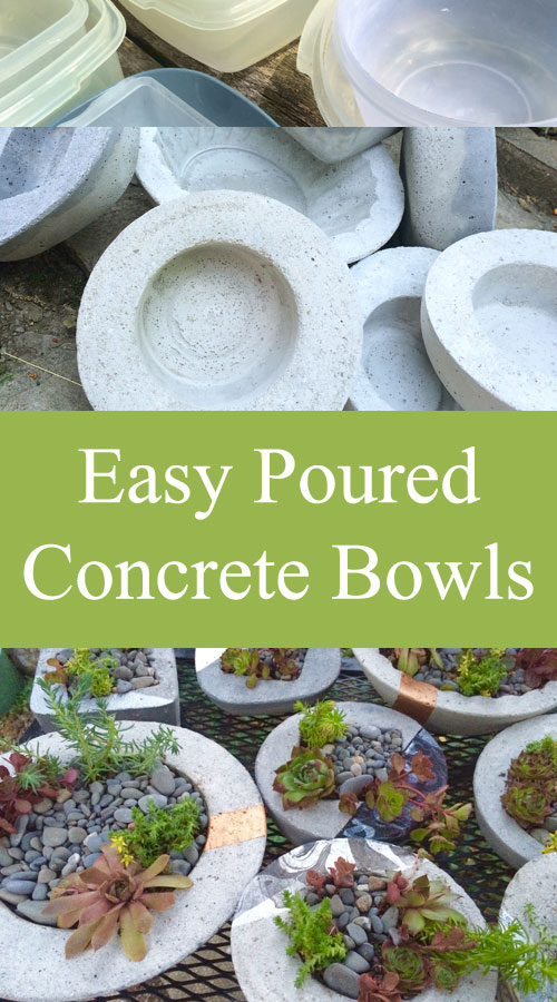 Easy Poured Concrete Bowls