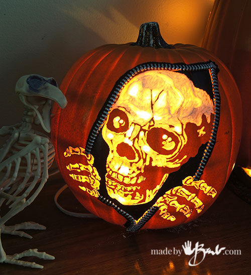 Awesome pumpkin carving diy made by barb faux