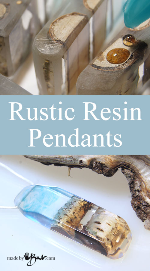 Rustic Resin Pendants