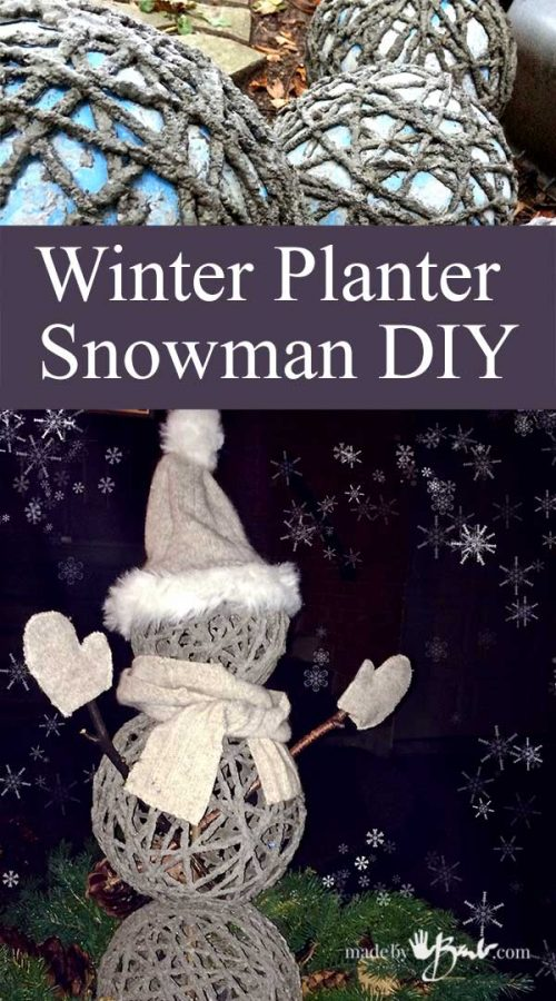 Winter Planter Snowman DIY