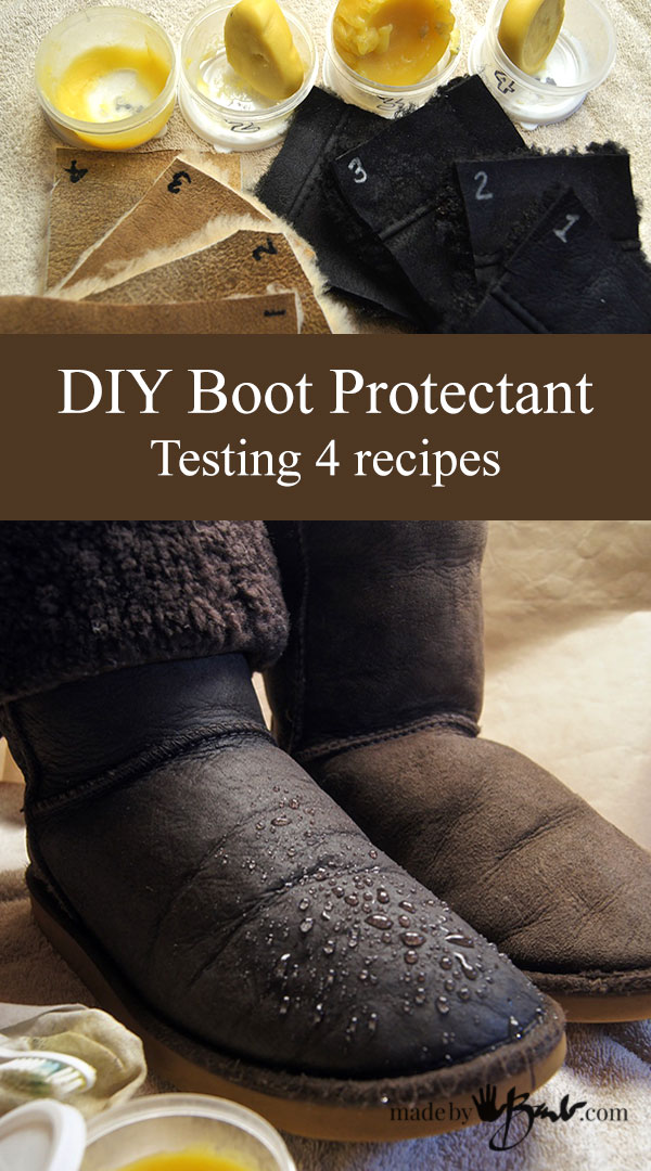 DIY Boot Protectant - Testing 4 Recipes on Shearling