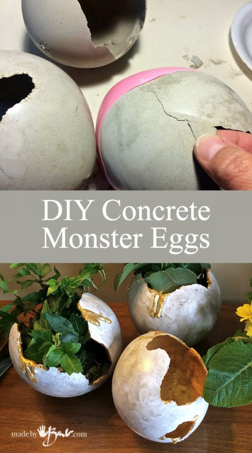 DIY Concrete Monster Eggs