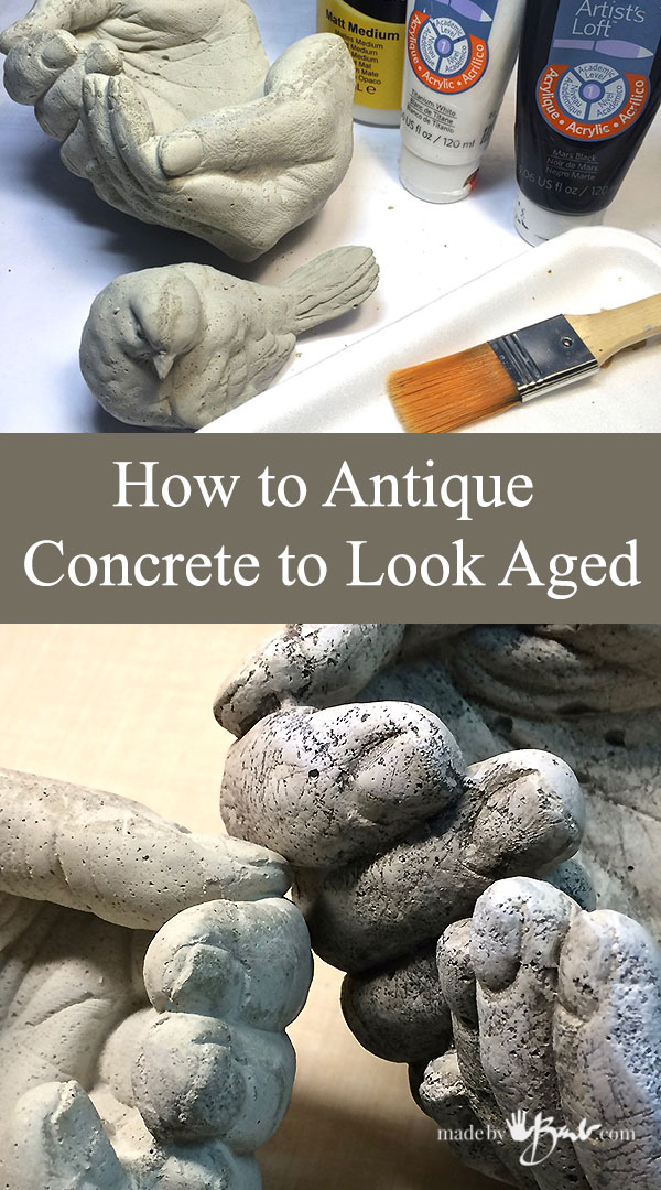 How to Antique Concrete to look Aged
