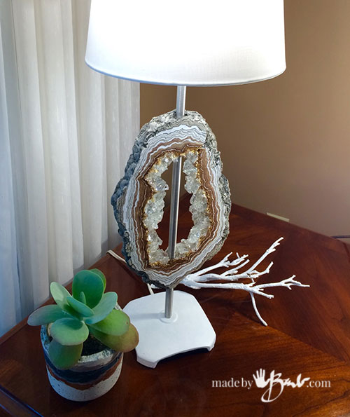 Diy Concrete Faux Geode Lamp Made By Barb