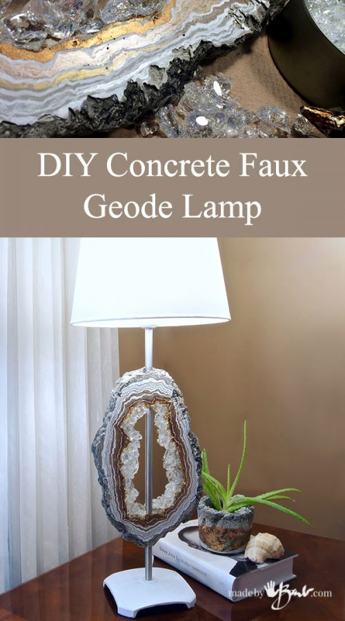 DIY Concrete Faux Geode Lamp