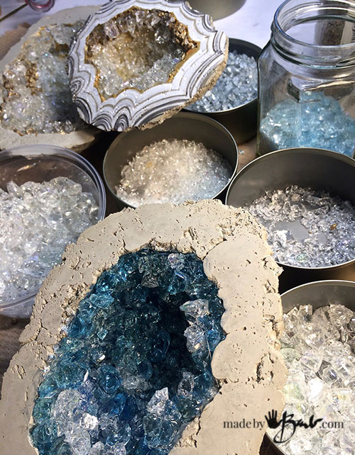 Diy Giant Concrete Geode Made By Barb Simple Step By