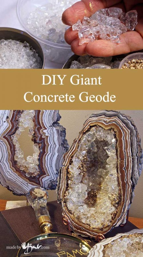 DIY Giant Concrete Geode