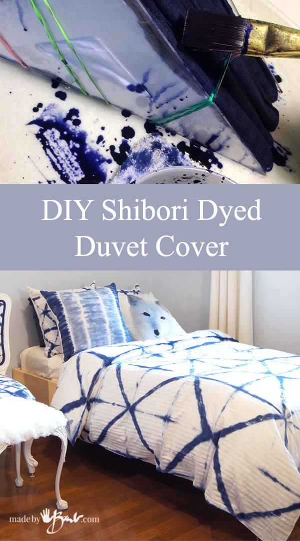 Diy Shibori Dyed Duvet Cover Made By Barb Detailed