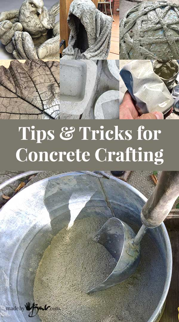 Tips and Tricks for Concrete Crafting - instructions to make