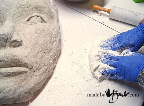 What Does Mold Smell Like >> DIY Concrete Face Garden Sculpture Mold - Made By Barb - easy mold making of your face sculpture