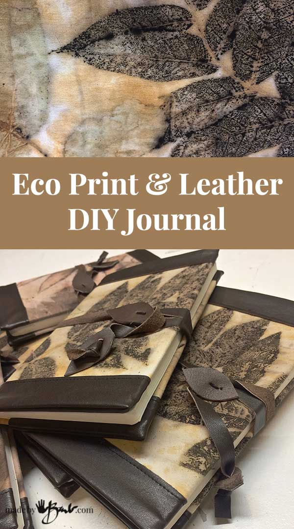 Eco print leather diy journal made by barb easy book cover im not quite sure why i am so determined but when i have some new art to master i go full steam or boil ahead i have been printing and dyeing so solutioingenieria Images
