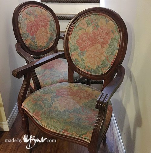 DIY Upholstery Painting - Made By Barb - testing paints and