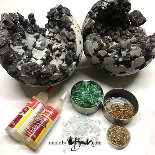 Rock and Concrete Geode Orb Planters - Made By Barb - easy ...