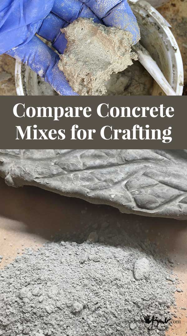 Compare Concrete Mixes for Crafting - Made By Barb - which