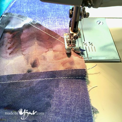 sewing machine with quilt seam allowance