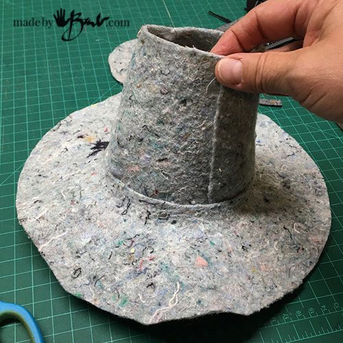 add the top to felt hat