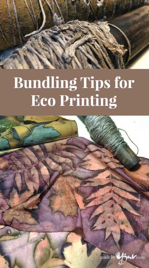 feature image of eco print unrolling