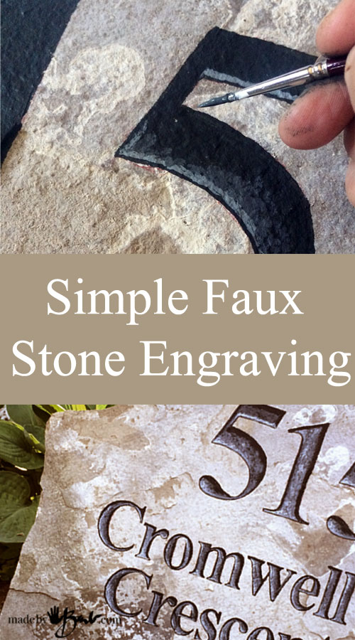 Simple Faux Stone Engraving