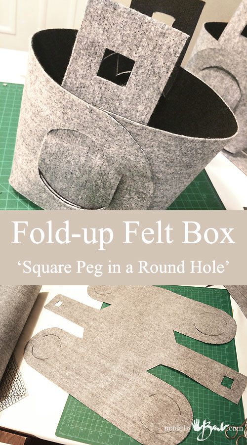 Fold-up Box - Square peg in a Round Hole