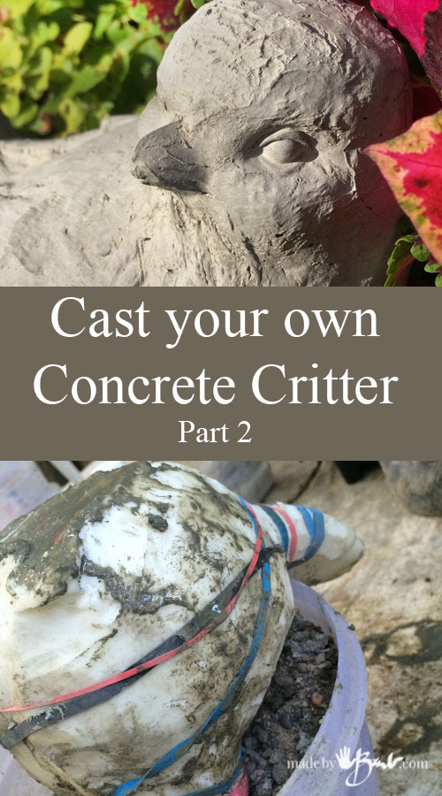 Cast your own Concrete Critter