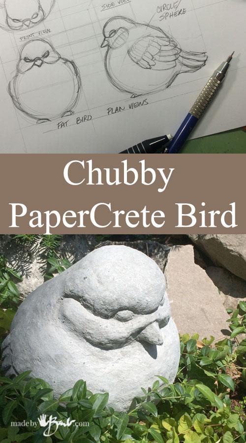 Chubby PaperCrete Bird