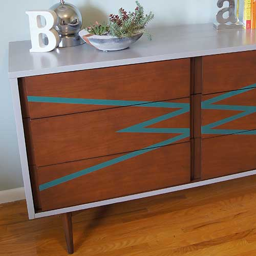 MCM Dresser Graphic Paint Makeover