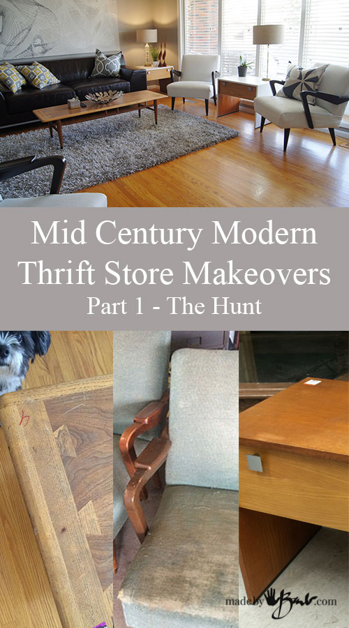 Mid Century Modern Thriftstore Makeovers - Part 1- The Hunt