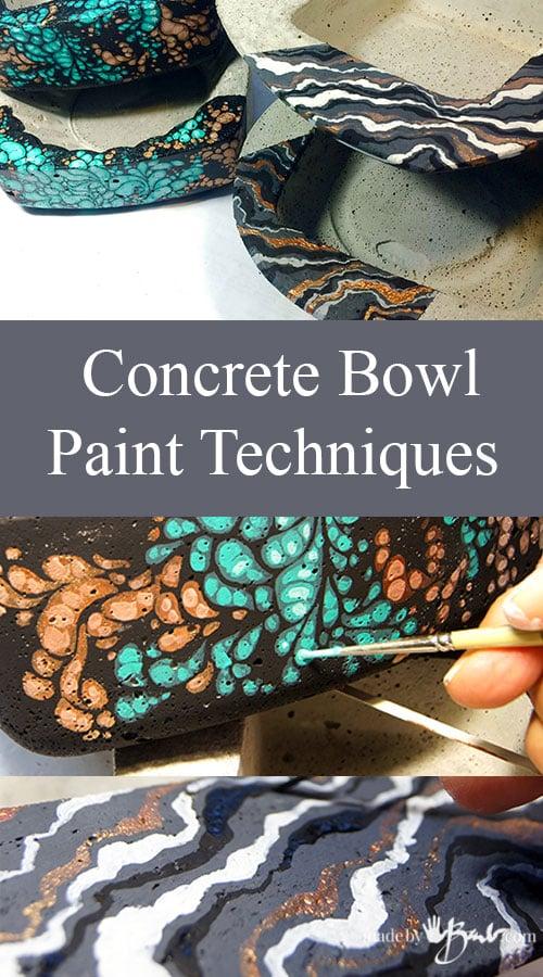 Concrete Bowl Paint Techniques