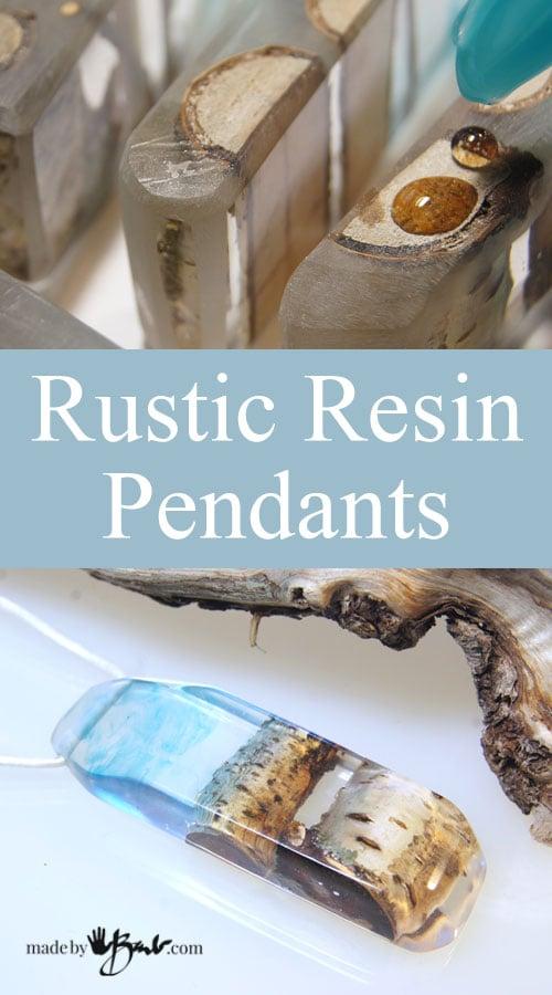 Rustic Resin Pendants