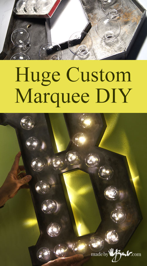 Huge Custom DIY Marquee