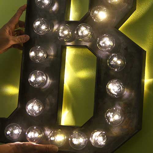 Huge Custom Marquee DIY–madebybarb Hero