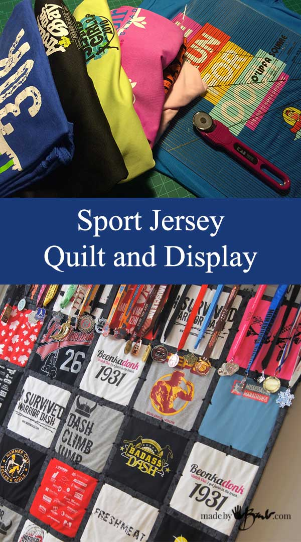 Sport Jersey Quilt and Display