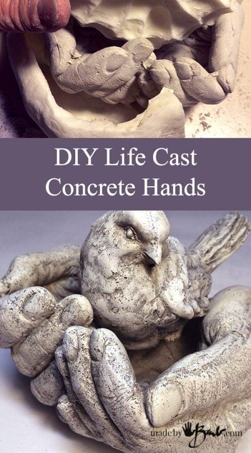 DIY Life Cast Concrete Hands