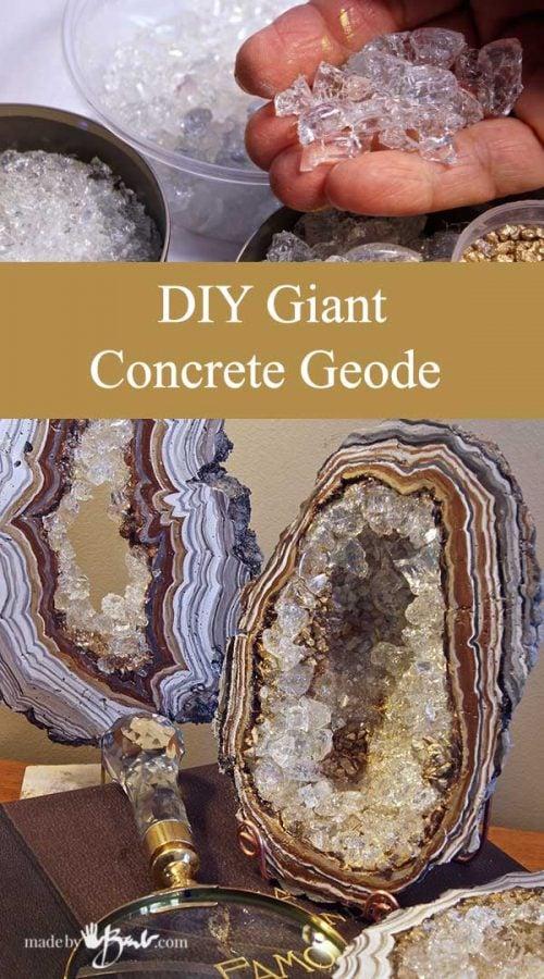 DIY Giant Concrete Geode