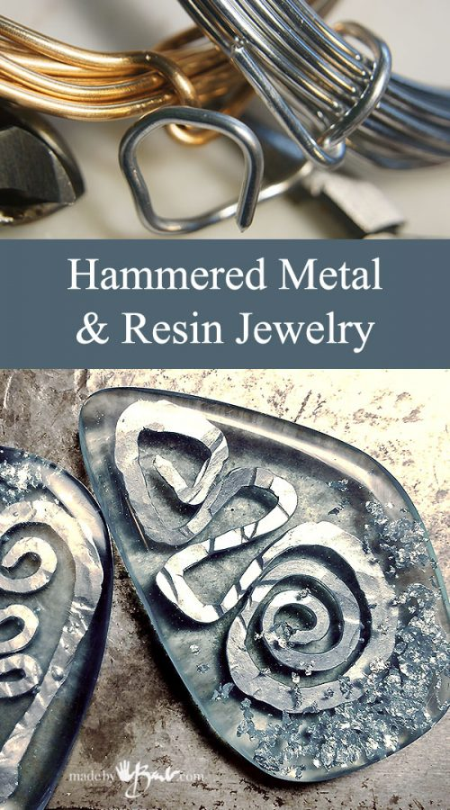 Hammered Metal & Resin Jewelry