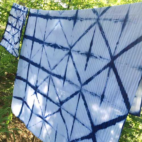 DIY Shibori Dyed Duvet Cover