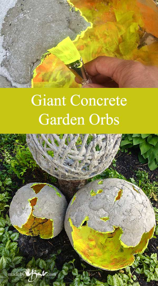 Giant Concrete Garden Orbs Made By Barb Concrete Mix Plus