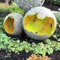 Giant Concrete Garden Orbs