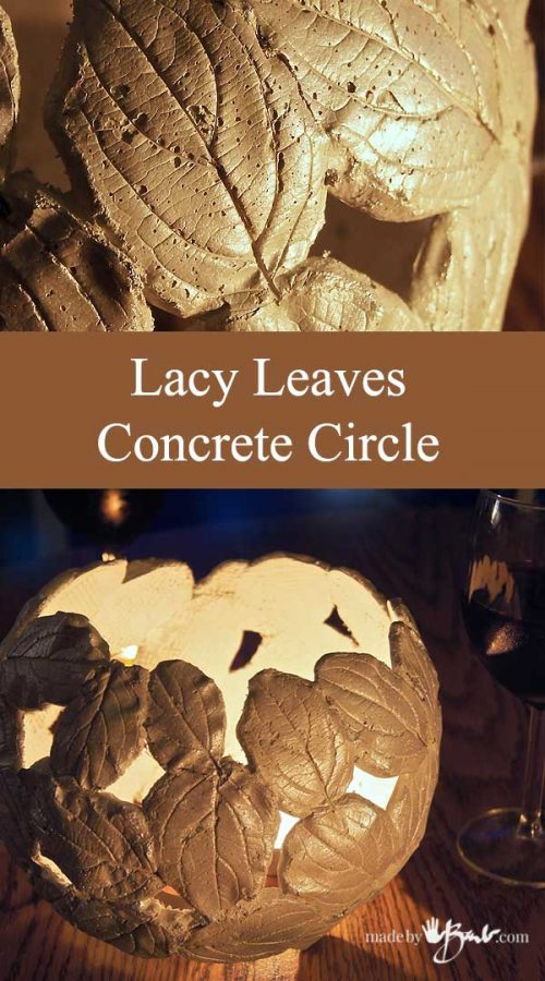 Lacy Leaves Concrete Circle