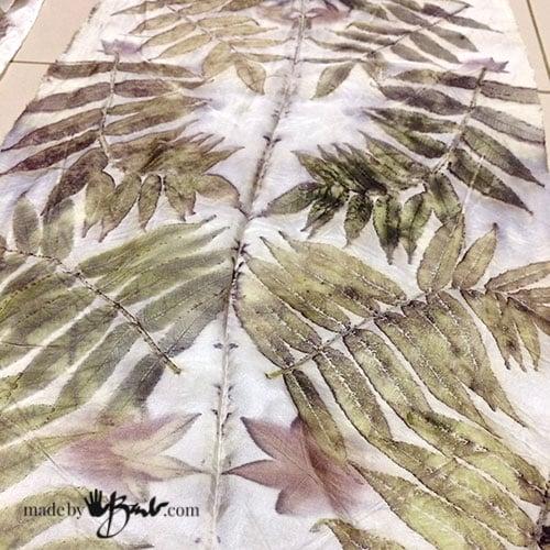 Botanical Prints Oak Eucalyptus Eco Print Dyed Silk Men/'s Necktie