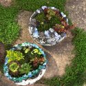 Rock And Concrete Geode Orb Planters