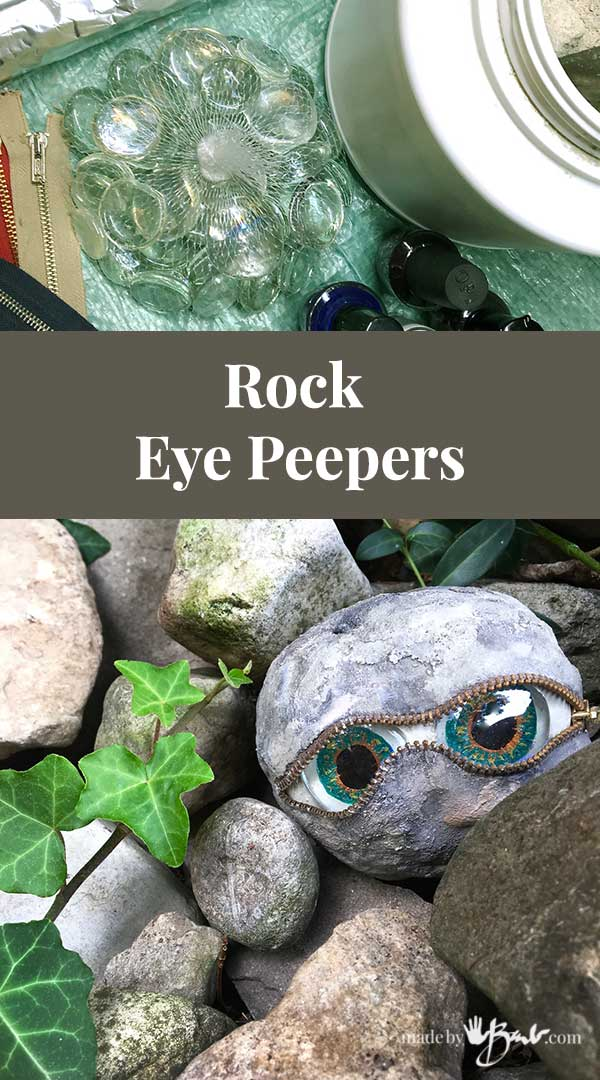 Rock Eye Peepers Made By Barb Concrete Stones That Look Back At You