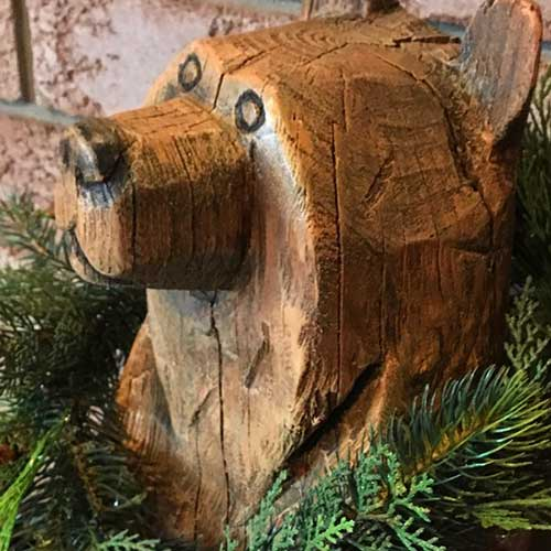 Forest chainsaw carving home design garden architecture