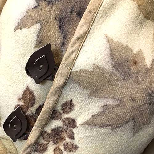 Eco Printed Wool Blanket Jacket
