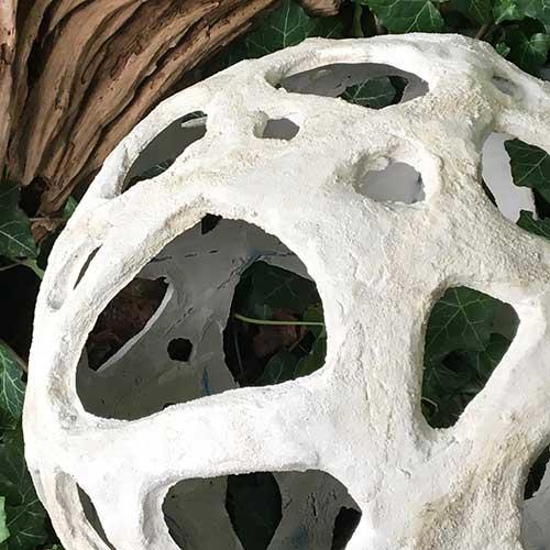 Large Holey Concrete Voronoi Orb