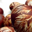 Easter Eggs Printed With Botanicals